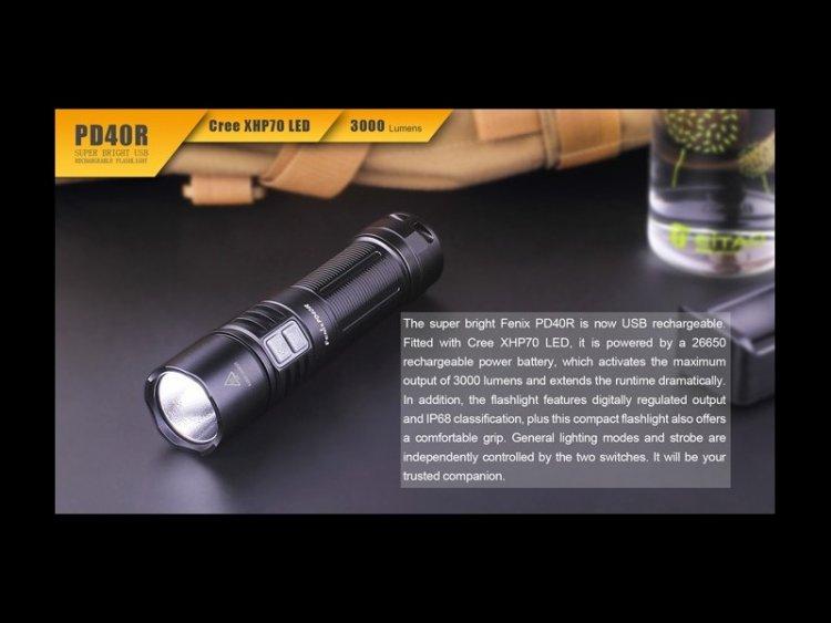 Fenix PD40R 3000 Lumens