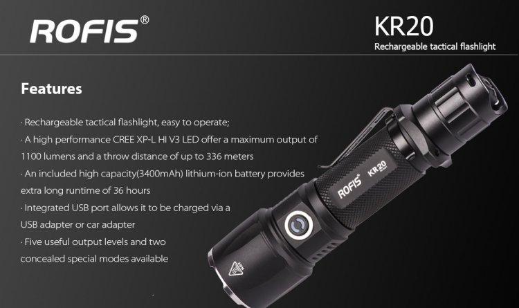 Rofis KR20 - 1100 Lumens